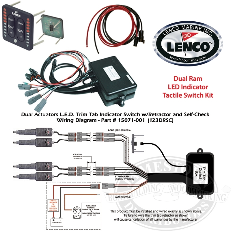 Lenco Waterproof Trim Tab Led Indicator Switch Kits throughout Lenco Trim Tabs Wiring Diagram