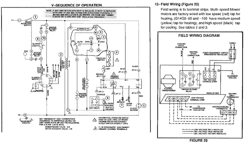 Lennox G1404 Furnance Blower Motor Wiring Foul Up - Doityourself with Blower Motor Wiring Diagram
