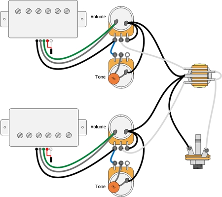 Les Wiring Diagram Les Paul Humbucker Wiring Diagram Les Wiring throughout Gibson Les Paul Wiring Diagram