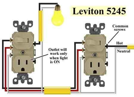 Leviton Switch Wiring Diagram within Leviton Outlet Wiring Diagram