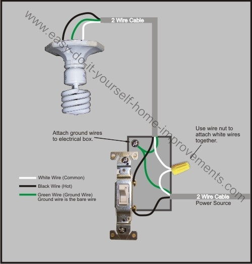 Light Switch Wiring Diagram regarding How To Wire A Light Switch Diagram