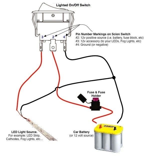 Lighted Rocker Switch Wiring Diagram inside Lighted Toggle Switch Wiring Diagram