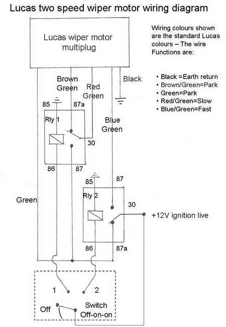 Wiring Diagram For 2 Speed Wiper Motor : Lucas dr wiper motor wiring diagram fuse box and