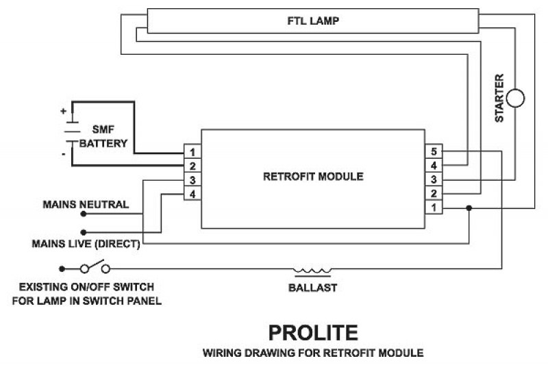 Emergency Lighting Wiring Diagram : Emergency light wiring diagram maintained fuse box and