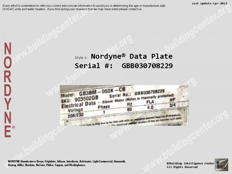Manufacture or age of an nordyne hvac equipment building manufacture or age of an nordyne hvac equipment building regarding nordyne ac wiring diagram cheapraybanclubmaster Choice Image