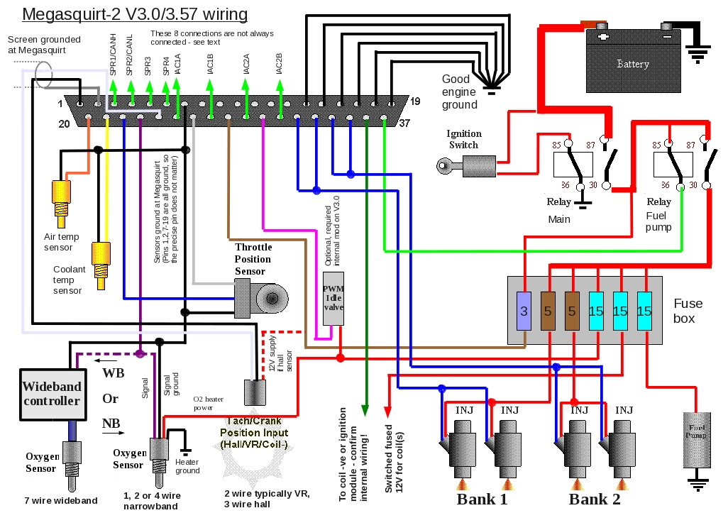 Megasquirt 2 - External Wiring Layouts in Megasquirt 2 Wiring Diagram