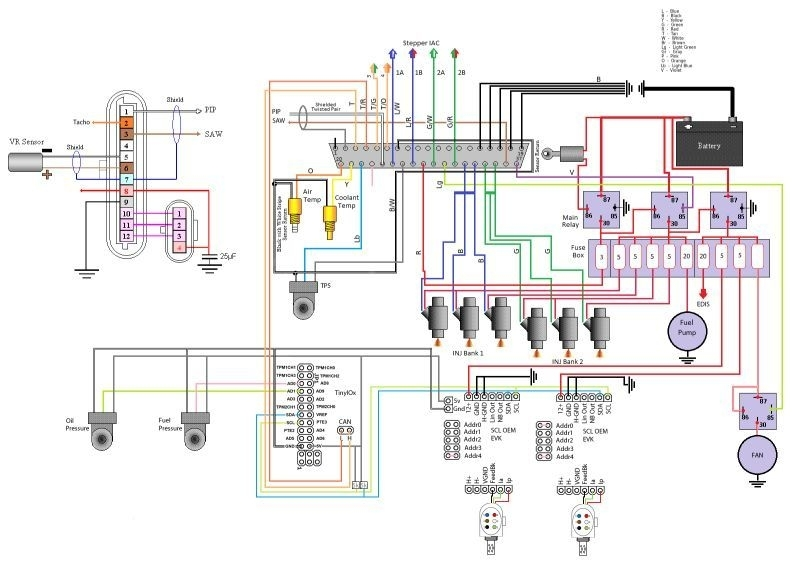 Megasquirt 3 Wiring Diagram with Megasquirt Wiring Diagram