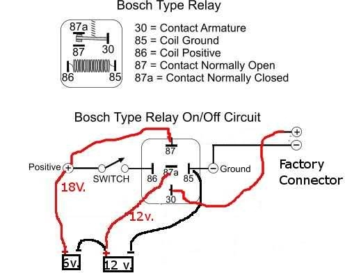 Modified Power Wheels with Bosch Relay Wiring Diagram