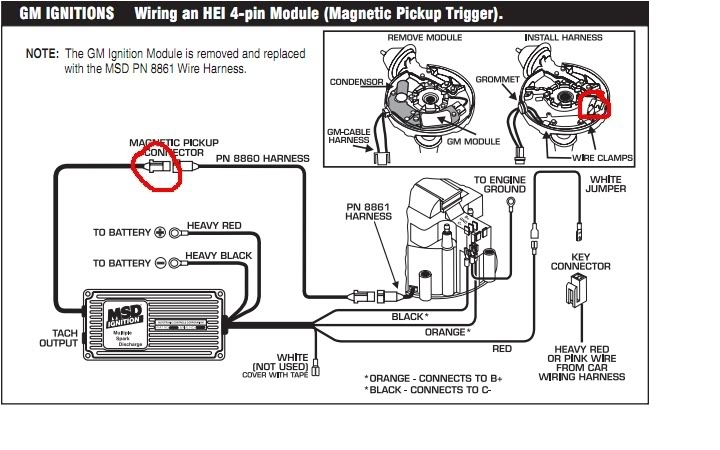 Msd Ignition 6Al Wiring Diagram Installing To Points Or Amplifier with Msd 6Al Wiring Diagram