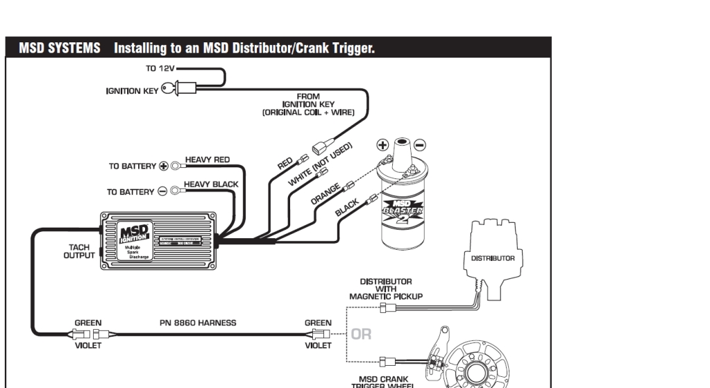 Msd Wiring Diagram Note In This Diagram The White Wire Can Not Be throughout Msd Ignition Wiring Diagram