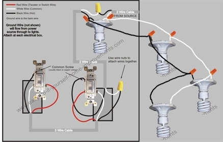 Multiple Recessed Lights On Two 3-Way Switches - Electrical - Diy intended for 3 Way Switch Wiring Diagram Multiple Lights