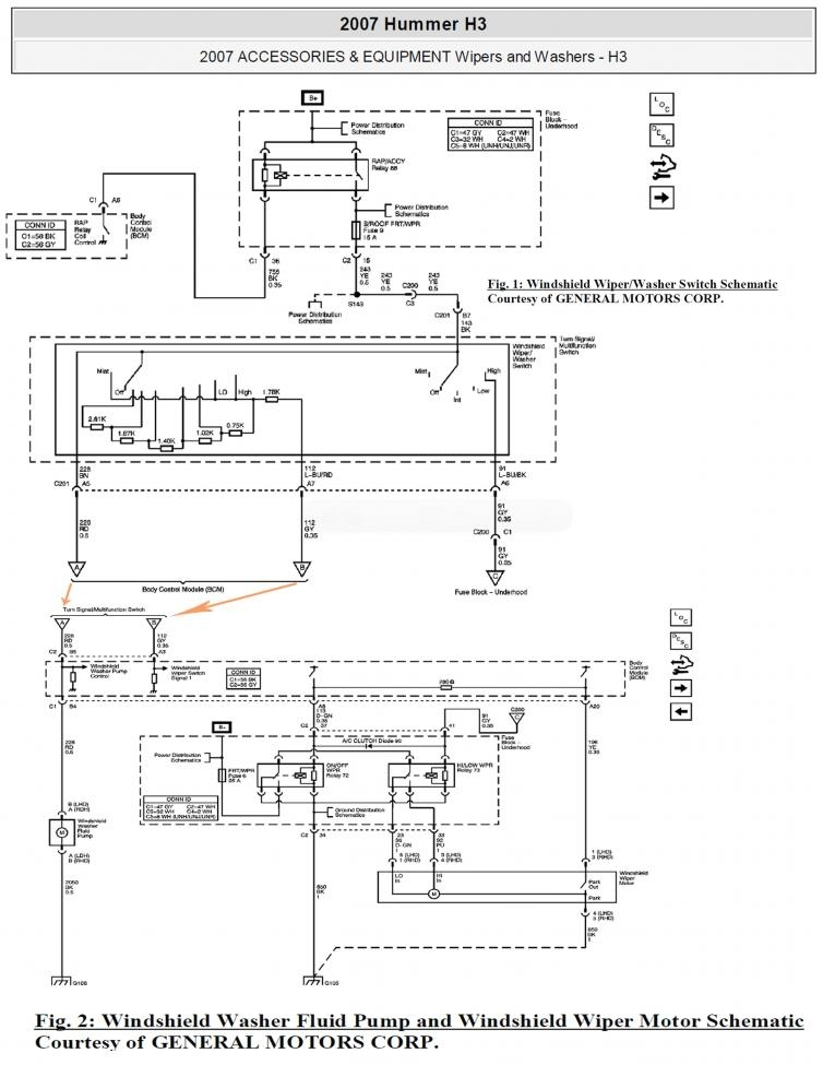 Need 2009 H3 Wiper Switch Wiring Diagram - Hummer Forums throughout 2006 Hummer H2 Wiring Diagram