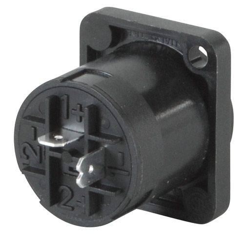 Neutrik Nl2Mp Speakon Connector 2 Pole Panel Mount regarding Neutrik Speakon Connector Wiring Diagram