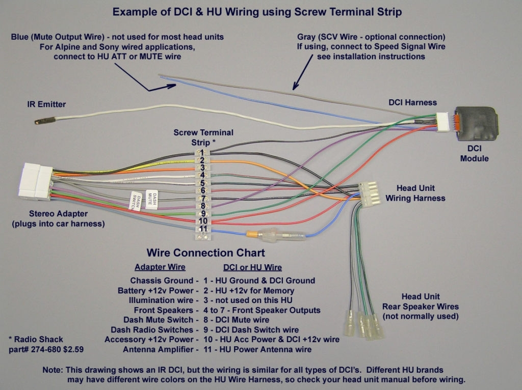 Wiring Diagram For Pioneer Radio : Alpine cde wiring diagram tnd