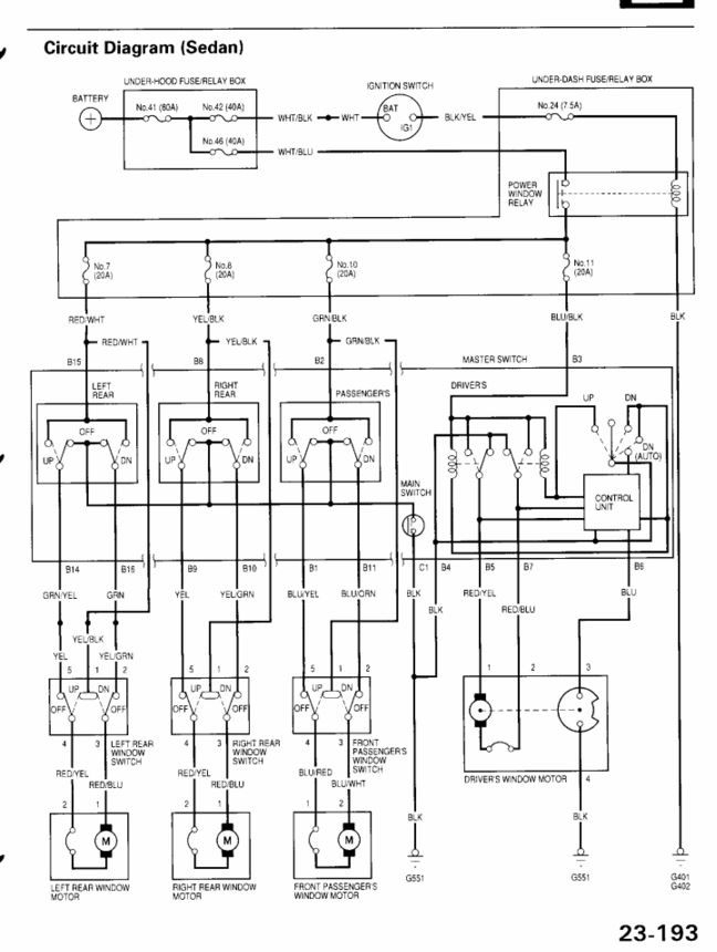 2001 Honda Accord Wiring Diagram : Honda accord coupe wiring diagrams pinouts