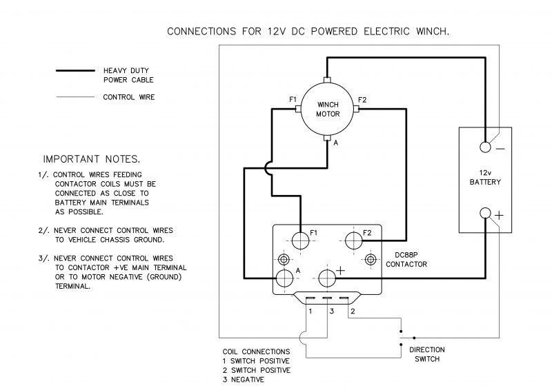 Wiring Diagram  30 Winch Contactor Wiring Diagram