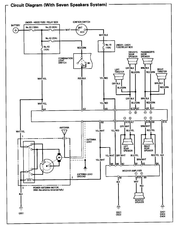 Radio Wiring - Honda Prelude Forum intended for 2001 Honda Prelude Wiring Diagram