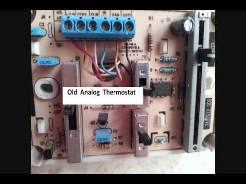 Replaceing Rv Thermostat With Honeywell Digital Thermostat - Youtube intended for Dometic Rv Thermostat Wiring Diagram