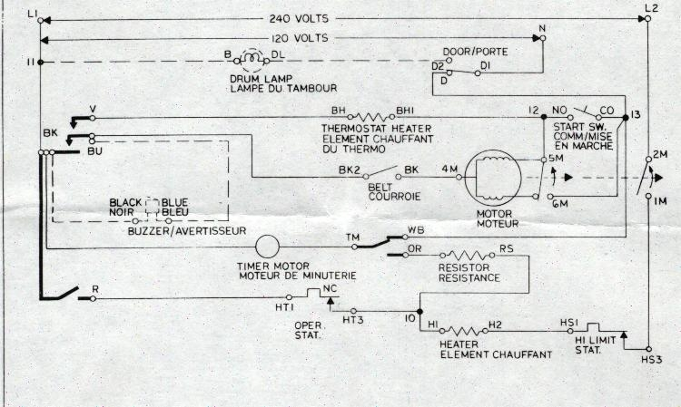 Sample Wiring Diagrams | Appliance Aid in Dryer Wiring Diagram