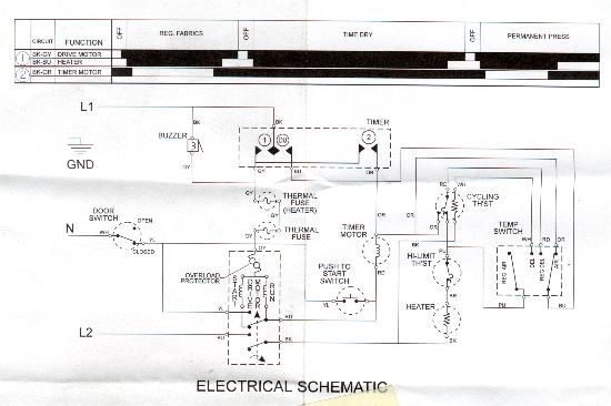 Sample Wiring Diagrams | Appliance Aid within Dryer Wiring Diagram