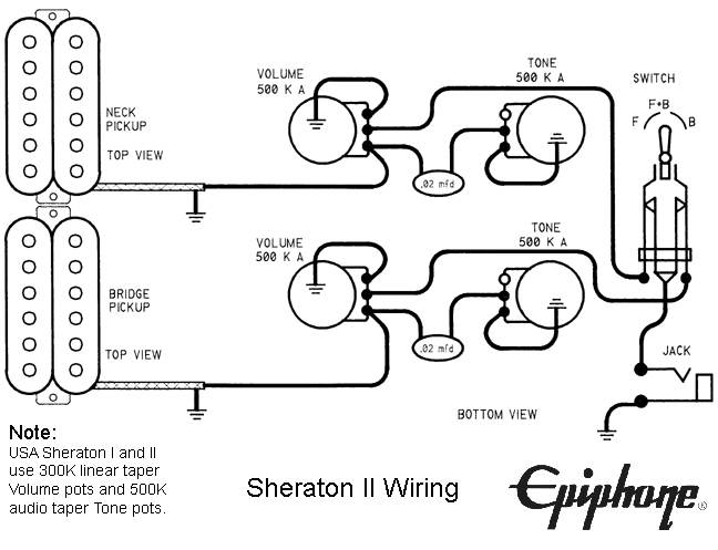 Schematics for Epiphone Les Paul Wiring Diagram