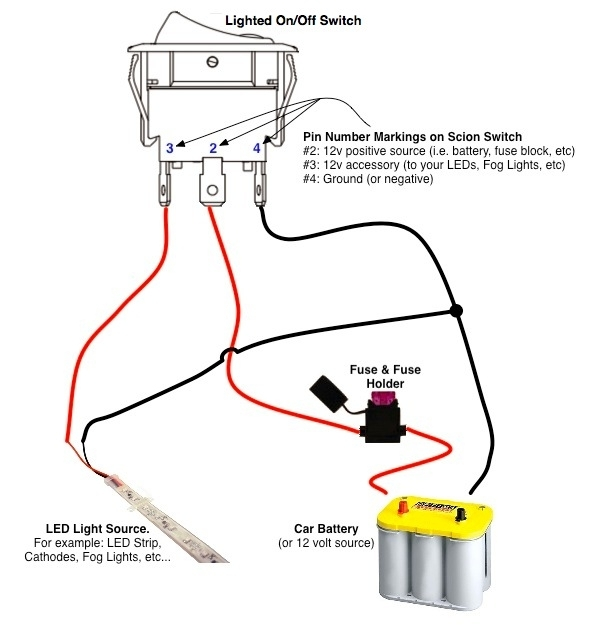 lighted rocker switch wiring diagram