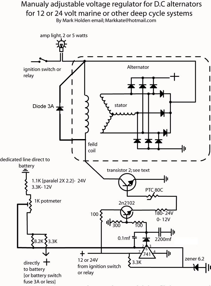 External Regulator Alternator Wiring Diagram