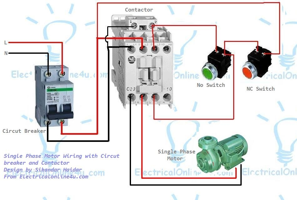 Single Phase Motor Wiring With Contactor Diagram for Electric Motor Wiring Diagram Single Phase