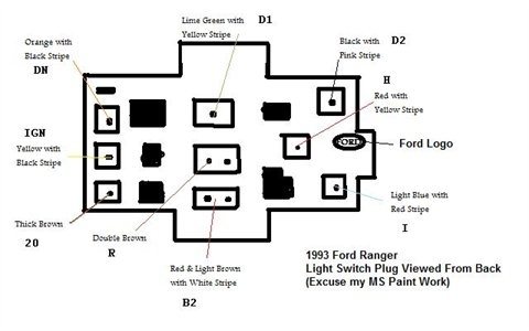 Solved: Need A Wiring Diagram For A 1998 Ford Explorer - Fixya with Headlight Switch Wiring Diagram