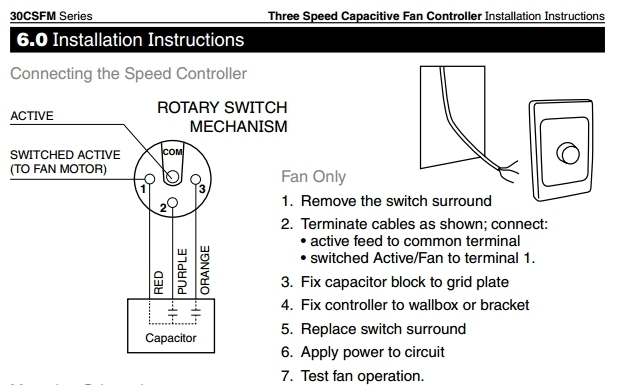 Speedcontroller - How Do Ceiling Fan Controllers Work inside 3 Speed Ceiling Fan Switch Wiring Diagram