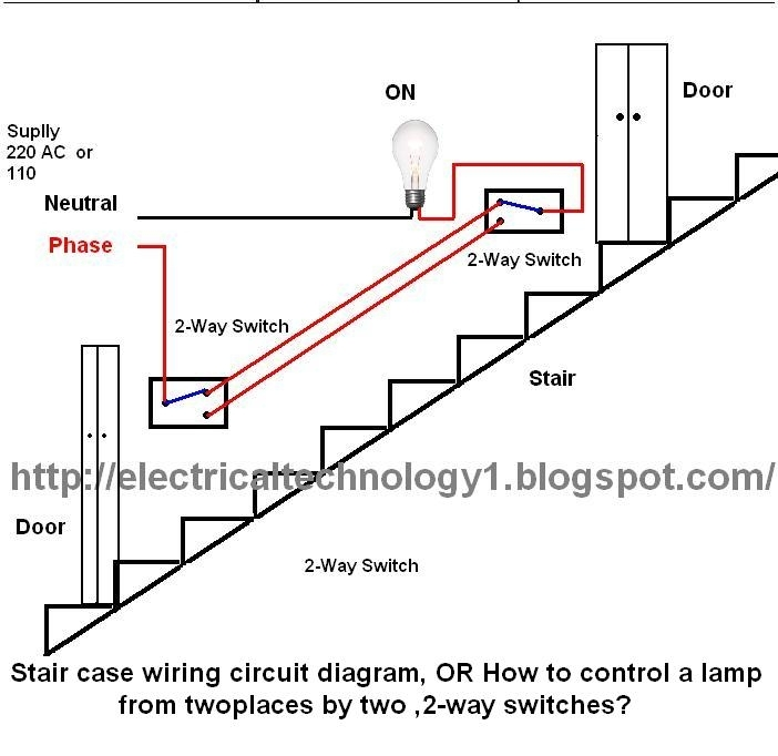 Staircase Wiring Circuit Diagram. Electrical Technolgy throughout 2 Way Switch Wiring Diagram