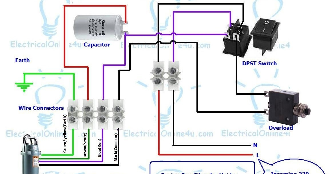 Submersible Pump Control Box Wiring Diagram For 3 Wire Single Phase throughout 3 Wire Submersible Pump Wiring Diagram