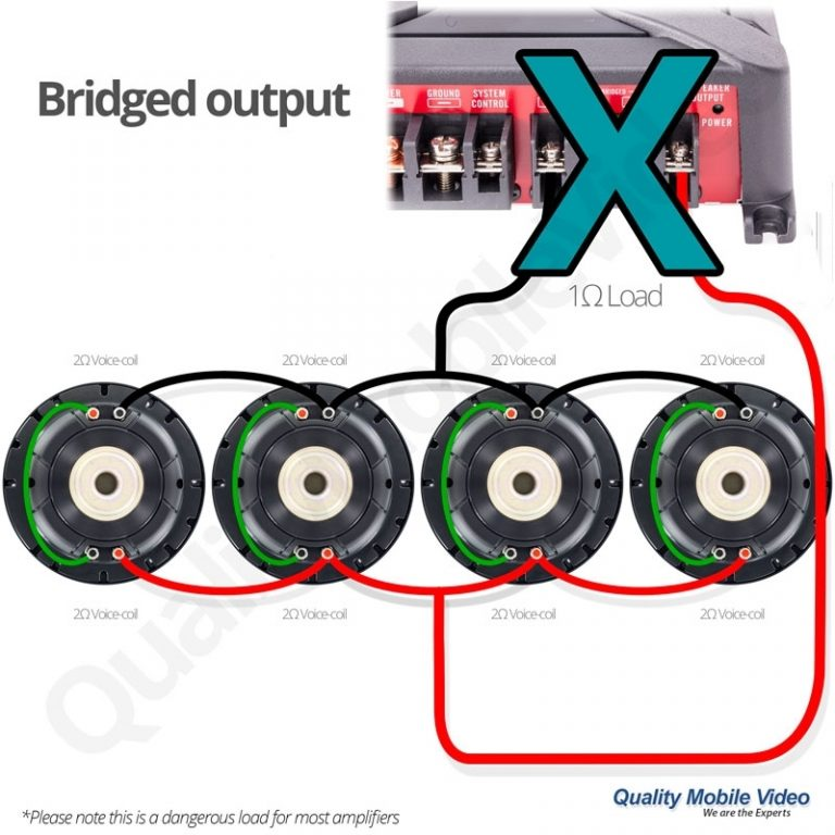 Single 4 Ohmsubwoofer Wiring: 4 Ohm Dual Voice Coil Subwoofer Wiring Diagram