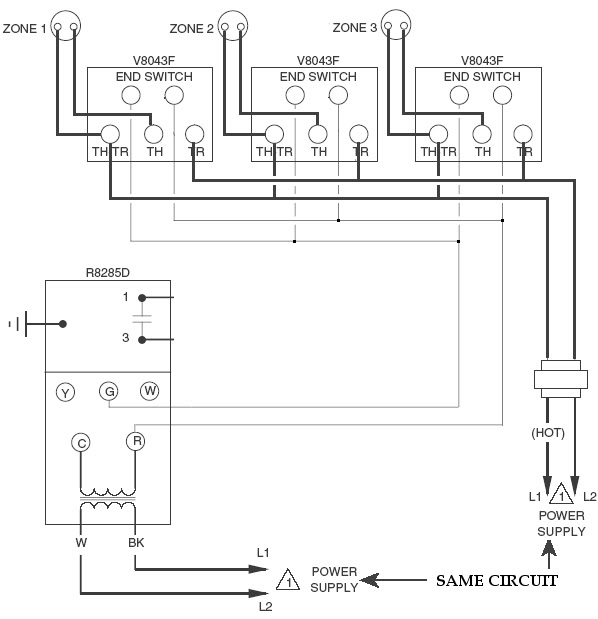 Taco Zone Control Wiring Honeywell Zone Valve Wiring Diagram regarding Honeywell Zone Valve Wiring Diagram