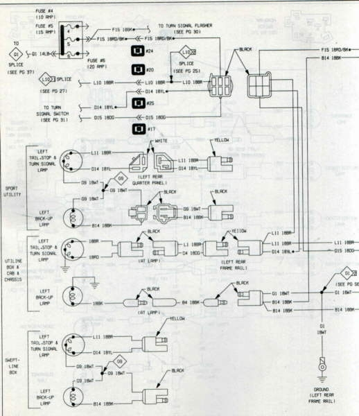 Tail Light Wiring - Dodge Ram, Ramcharger, Cummins, Jeep, Durango in 1974 Dodge Ramcharger Wiring Diagram
