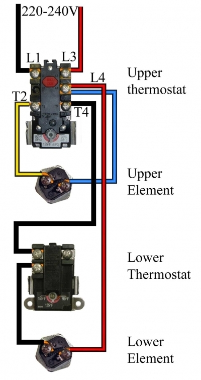Testing Thermostats On Electric Hot Water Heaters inside Hot Water Tank Wiring Diagram