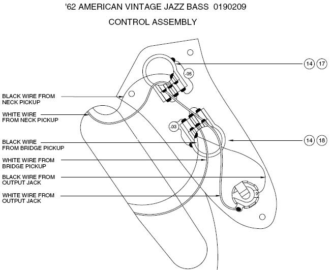 The 1962 Fender Jazz Control | Seymour Duncan in Jazz Bass Wiring Diagram