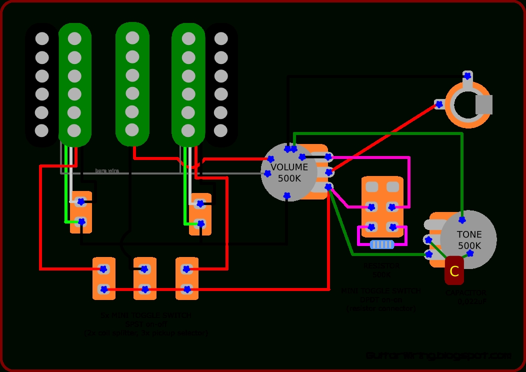 The Guitar Wiring Blog - Diagrams And Tips: Custom Wiring Diagram regarding Jem Wiring Diagram