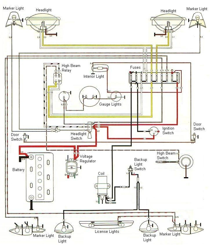 The Karmann Ghia Online Resource - Technical (Electrical) with regard to 1973 Karmann Ghia Wiring Diagram