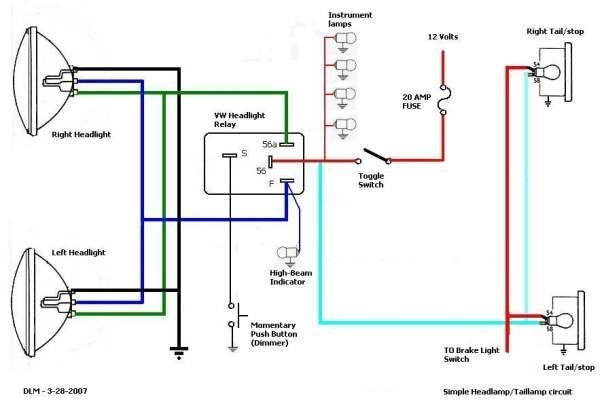 Thesamba :: Hbb Off-Road - View Topic - Wiring Brake Running with Brake Light Wiring Diagram