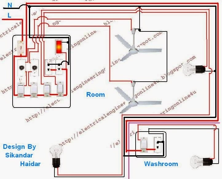 Two Room Wiring Diagram Electrical Wiring Diagram Room Electrical for Home Wiring Diagram