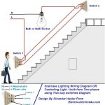 Two Way Light Switch Diagram Or Staircase Lighting Wiring Diagram pertaining to Light Switch 2 Way Wiring Diagram