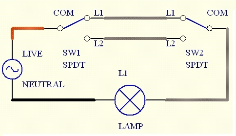 Two Way Light Switch Wiring Diagram | Electrical | Pinterest with regard to Lighting 2 Way Switching Wiring Diagram