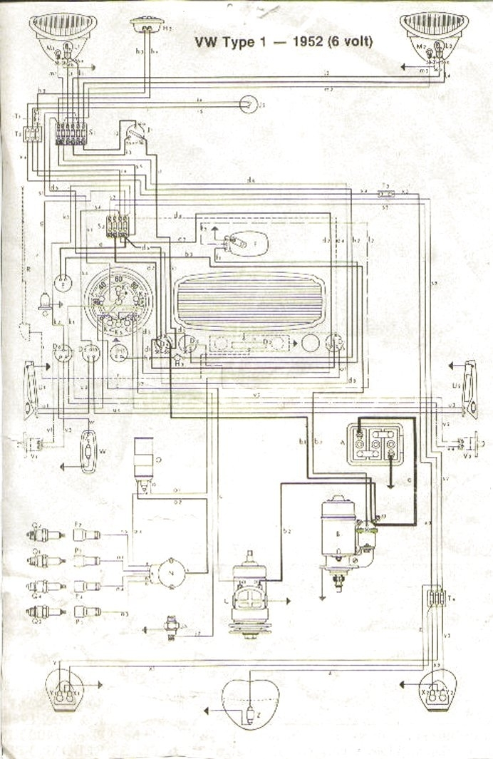 Vw Wiring Diagrams pertaining to 1968 Vw Beetle Wiring Diagram