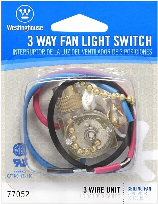 Westinghouse Three-Way Fan Light Switch With Polished Brass Pull Chain for Ceiling Fan Pull Chain Light Switch Wiring Diagram
