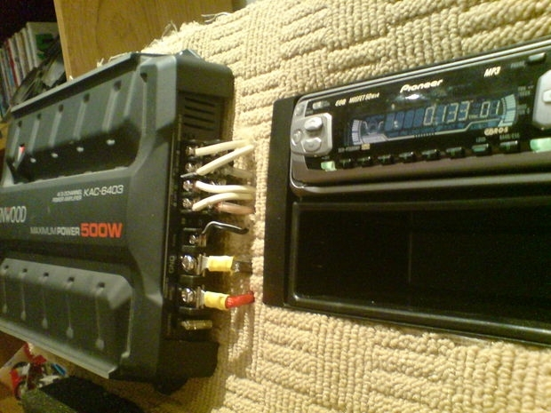 Wiring A Car Audio Amplifier And Headunit Up Indoors Using Pc with Auto Amplifier Wiring Diagram