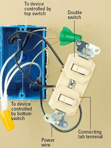Wiring A Double Switch Diagram pertaining to Double Wall Switch Wiring Diagram