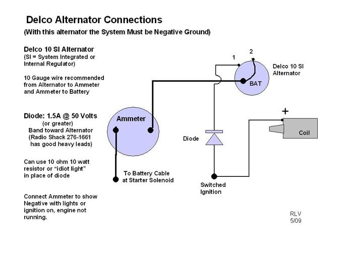 Wiring Diagram For 1 Wire Delco Alternator – Readingrat in Delco Alternator Wiring Diagram