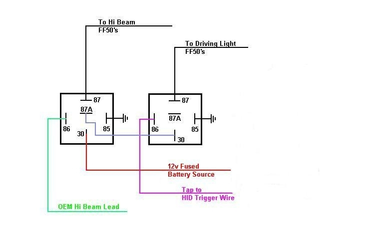 Wiring Diagram For 12V Relay pertaining to 12 Volt Relay Wiring Diagram