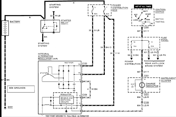 1999 ford explorer electrical wiring diagram